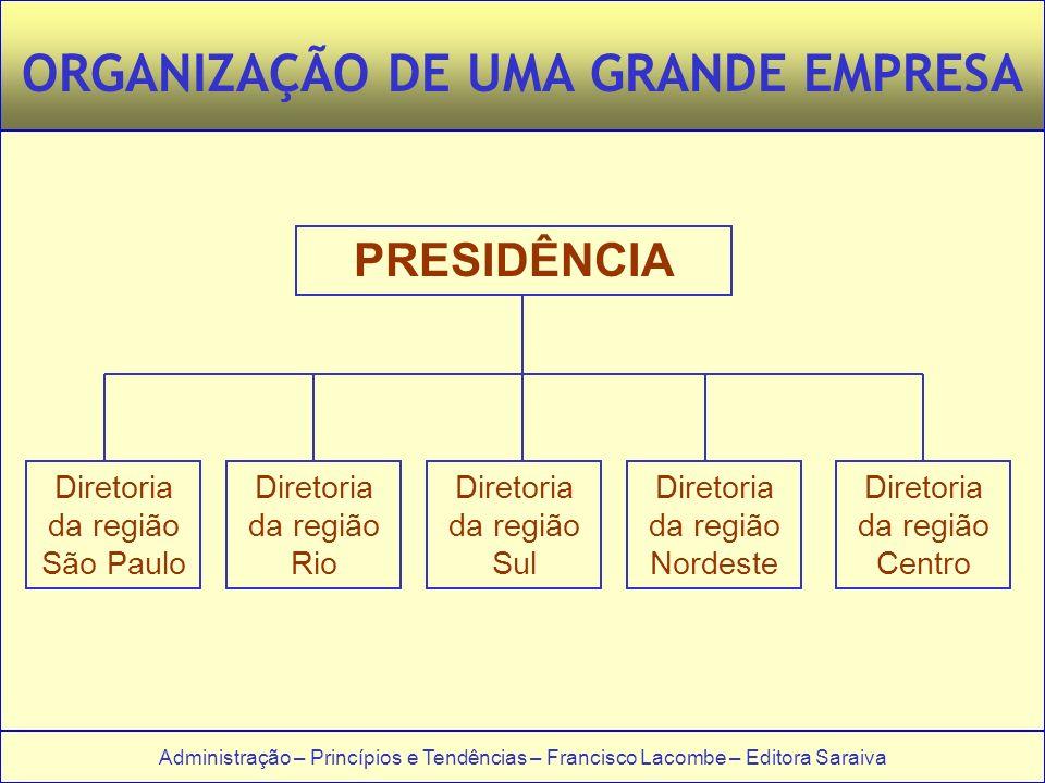 ORGANIZAÇÃO DE UMA GRANDE EMPRESA