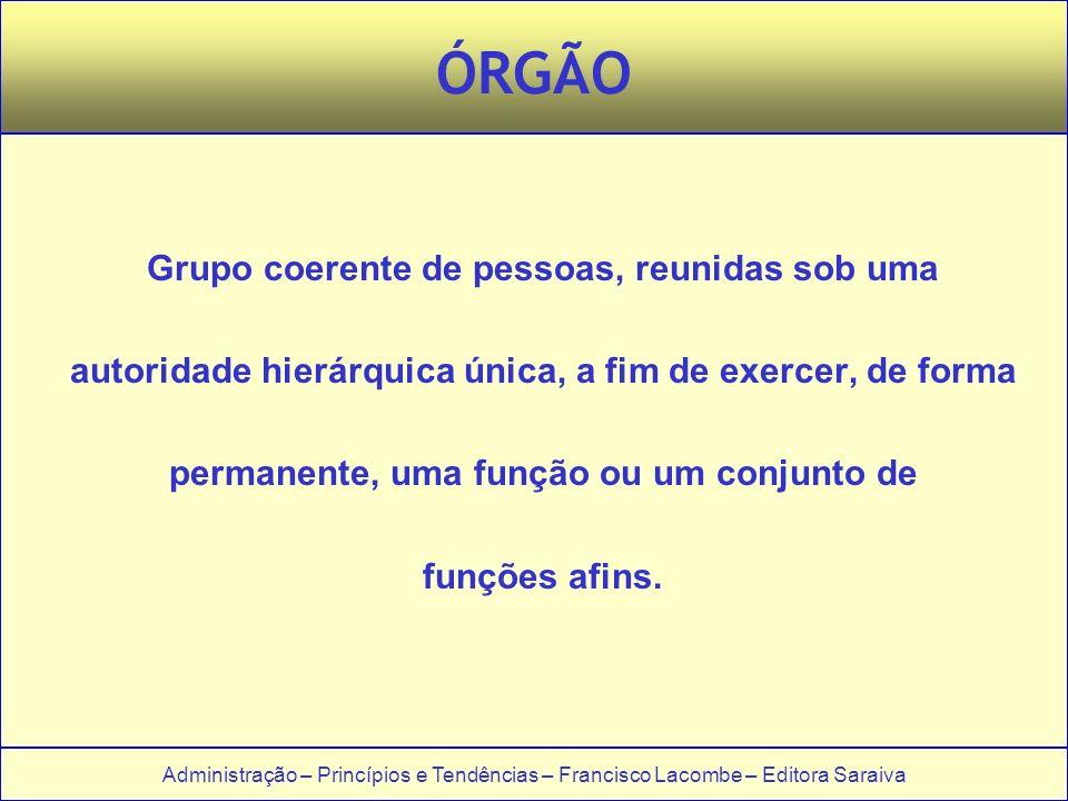 ÓRGÃO Grupo coerente de pessoas, reunidas sob uma