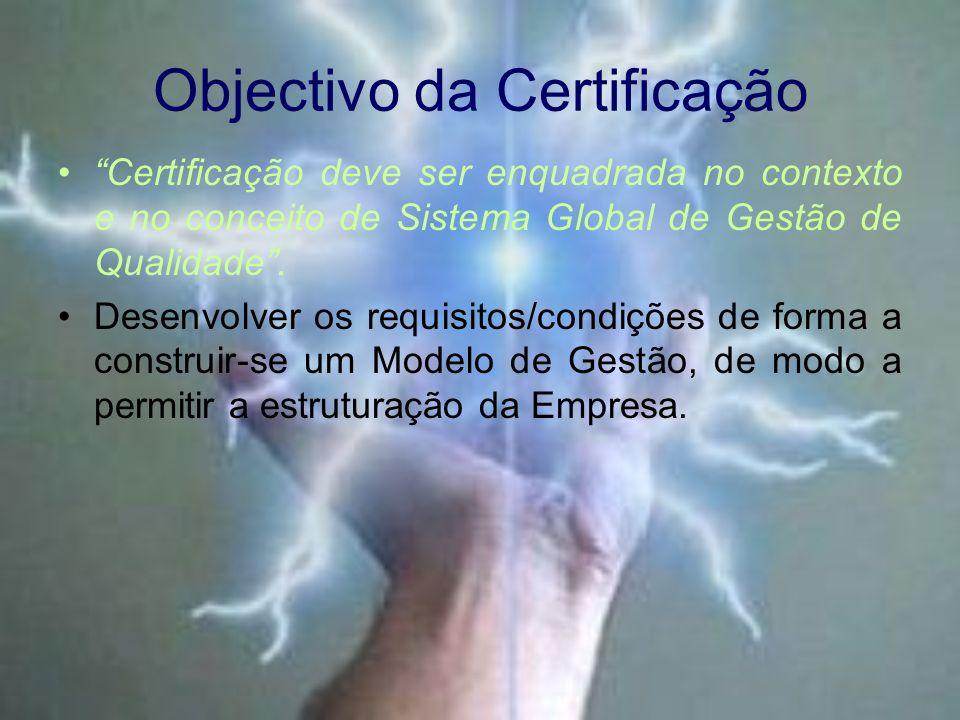 Objectivo da Certificação