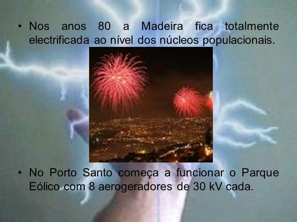 Nos anos 80 a Madeira fica totalmente electrificada ao nível dos núcleos populacionais.