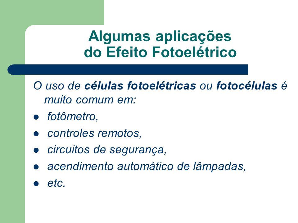 Algumas aplicações do Efeito Fotoelétrico