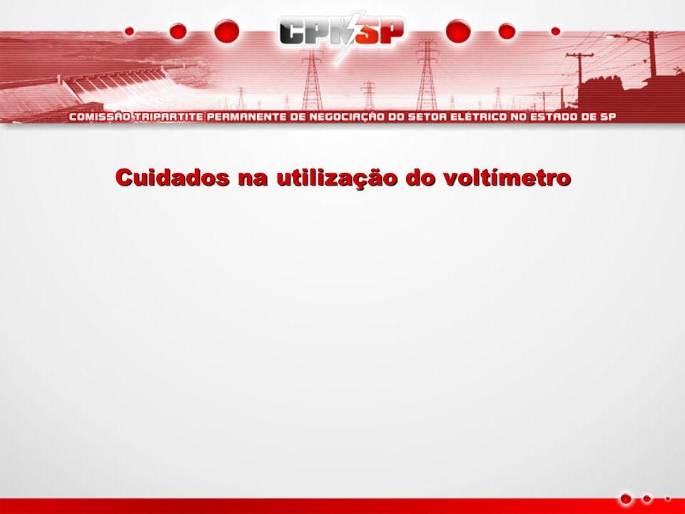 Cuidados na utilização do voltímetro