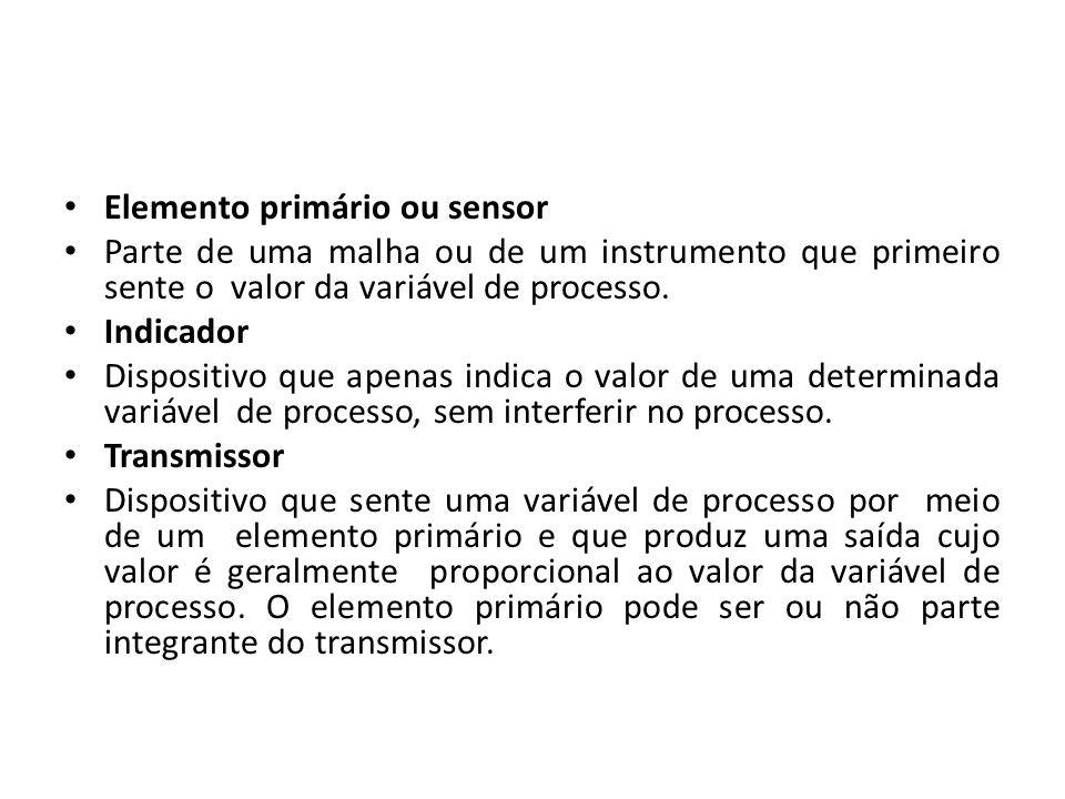 Elemento primário ou sensor