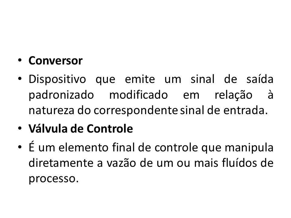 Conversor Dispositivo que emite um sinal de saída padronizado modificado em relação à natureza do correspondente sinal de entrada.