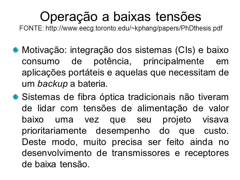 Operação a baixas tensões FONTE: http://www. eecg. toronto