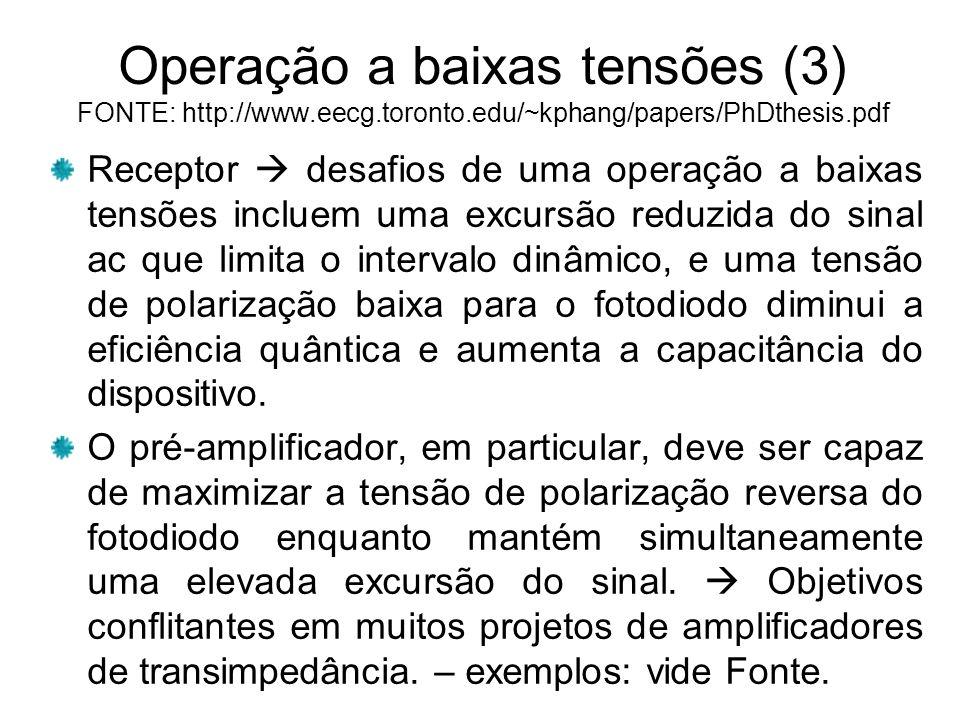 Operação a baixas tensões (3) FONTE: http://www. eecg. toronto