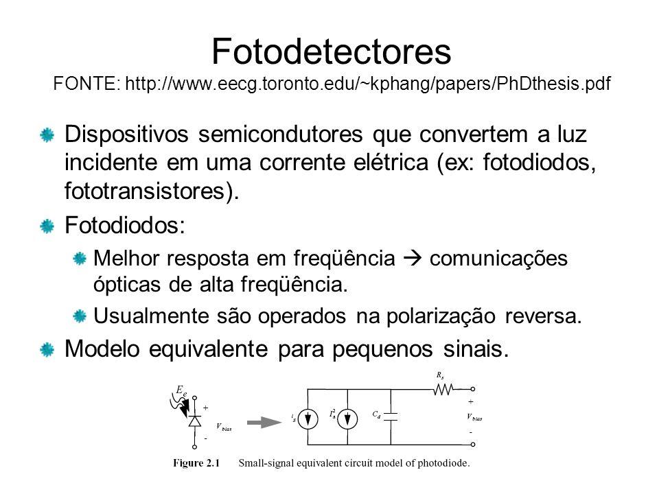 Fotodetectores FONTE: http://www. eecg. toronto