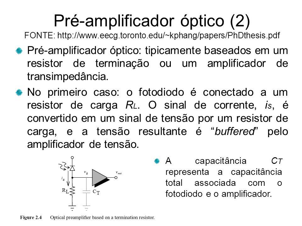 Pré-amplificador óptico (2) FONTE: http://www. eecg. toronto