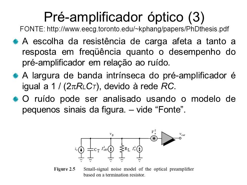 Pré-amplificador óptico (3) FONTE: http://www. eecg. toronto