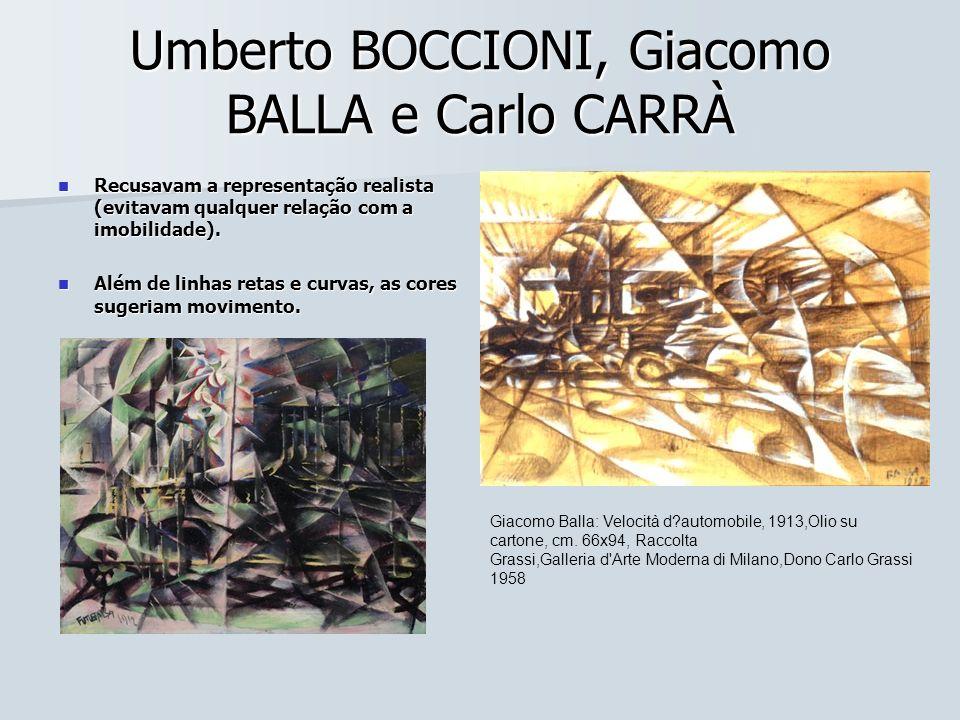 Umberto BOCCIONI, Giacomo BALLA e Carlo CARRÀ