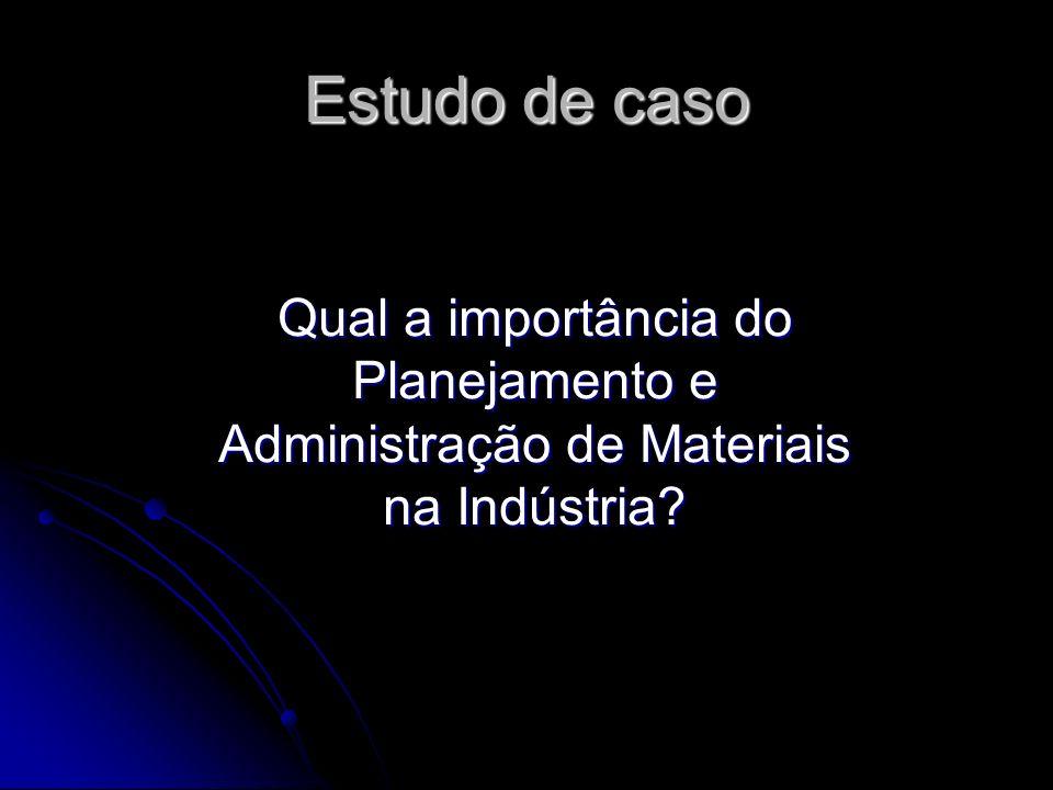 Estudo de caso Qual a importância do Planejamento e Administração de Materiais na Indústria