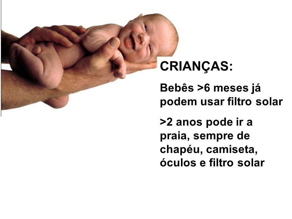 m ; CRIANÇAS: ... ZZZ Bebês >6 meses já podem usar filtro solar