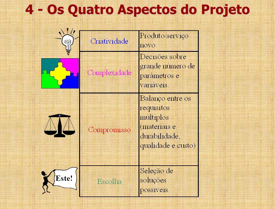 4 - Os Quatro Aspectos do Projeto