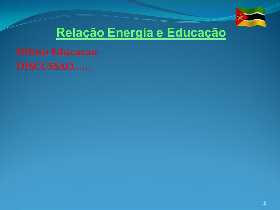 Difinir Educacao DISCUSSAO......