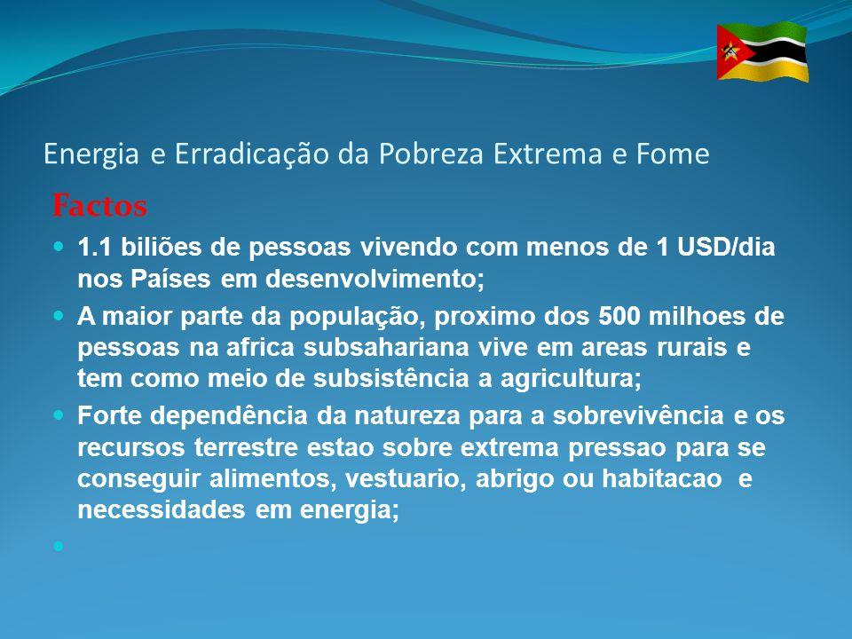 Energia e Erradicação da Pobreza Extrema e Fome