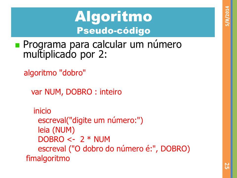 Algoritmo Pseudo-código
