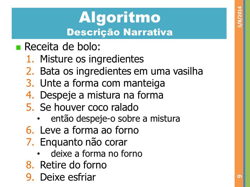 Algoritmo Descrição Narrativa