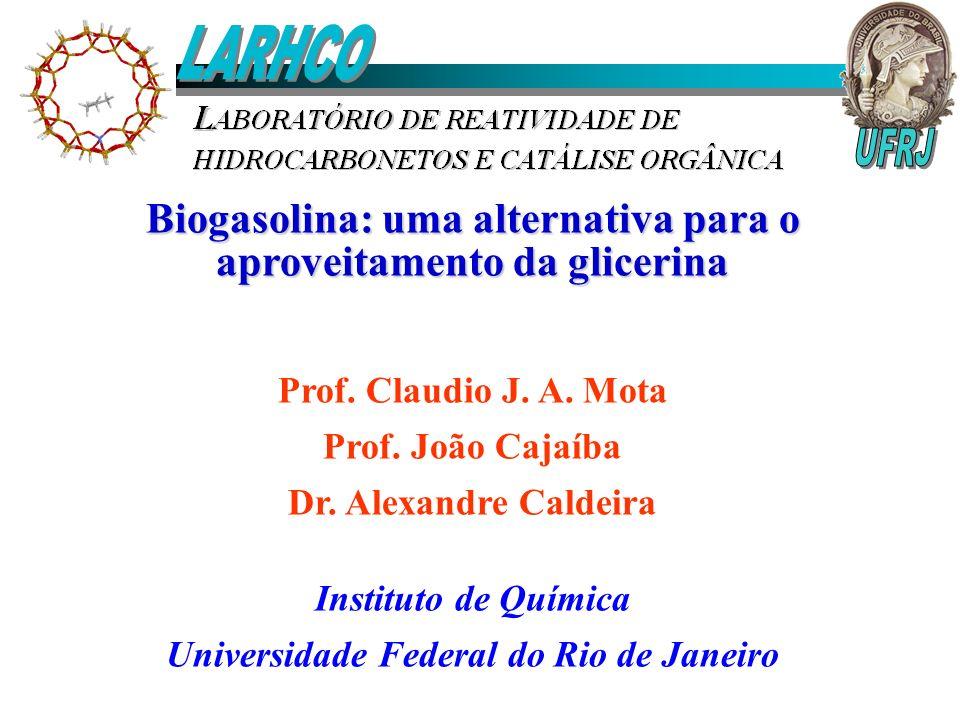 LARHCO Biogasolina: uma alternativa para o aproveitamento da glicerina