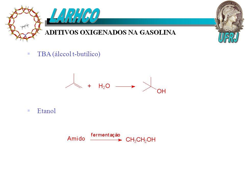 LARHCO TBA (álccol t-butílico) Etanol UFRJ