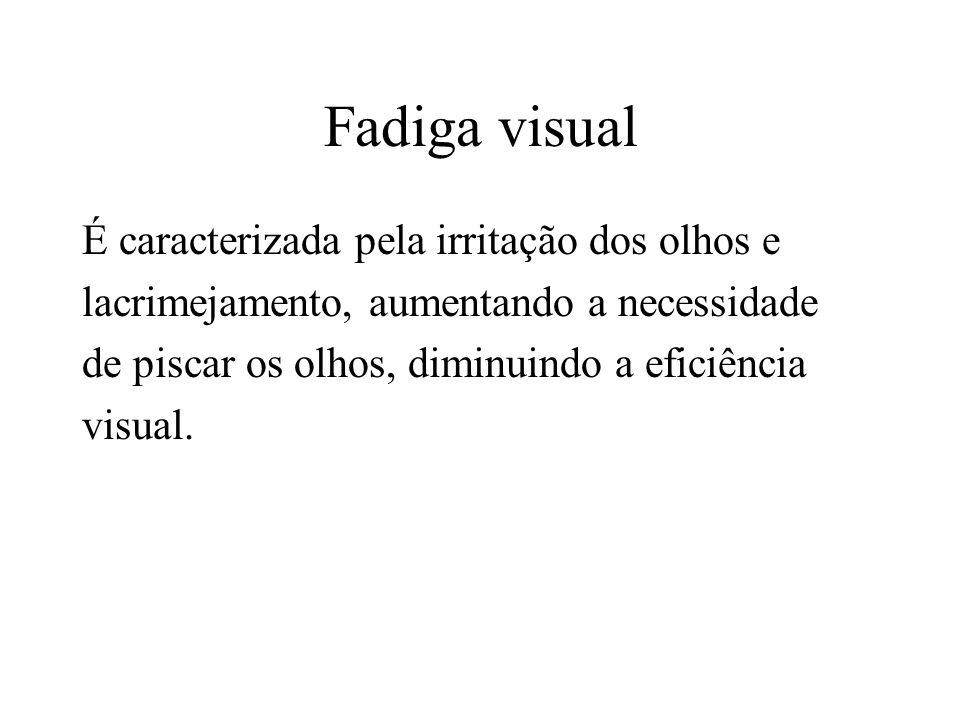 Fadiga visual É caracterizada pela irritação dos olhos e
