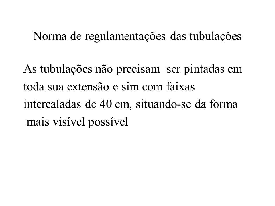 Norma de regulamentações das tubulações