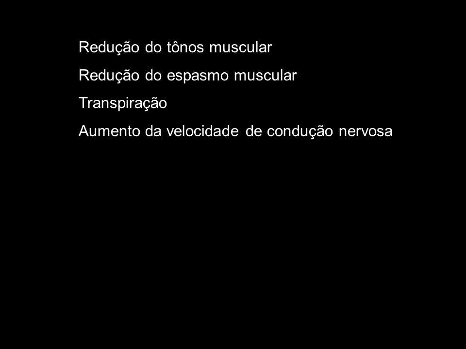 Redução do tônos muscular
