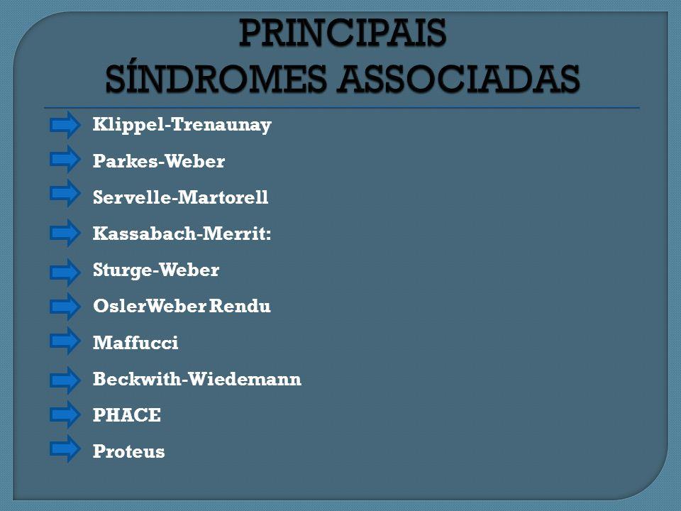 PRINCIPAIS SÍNDROMES ASSOCIADAS