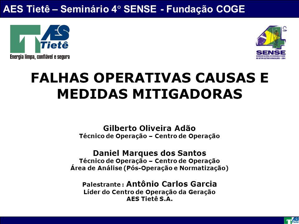 FALHAS OPERATIVAS CAUSAS E MEDIDAS MITIGADORAS
