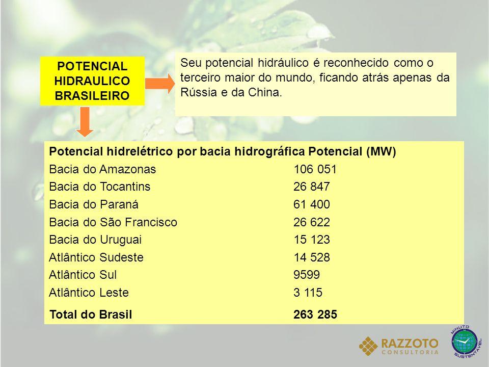 POTENCIAL HIDRAULICO BRASILEIRO