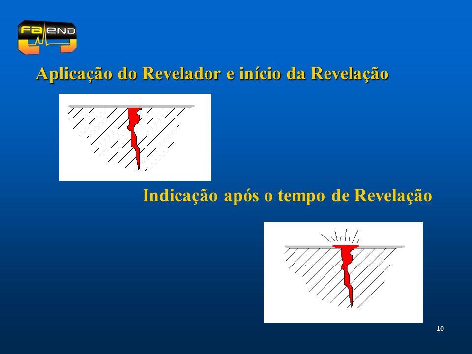 Aplicação do Revelador e início da Revelação