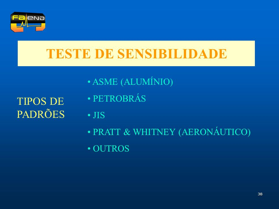 TESTE DE SENSIBILIDADE