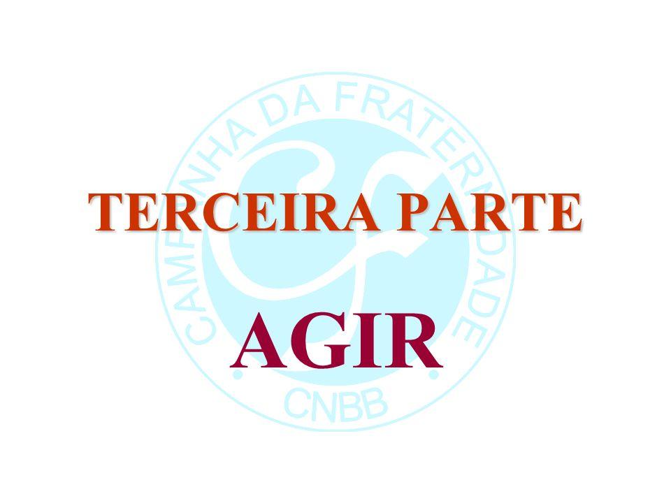 TERCEIRA PARTE AGIR Como todos os anos, o Texto-base segue o método Ver-Julgar-Agir.