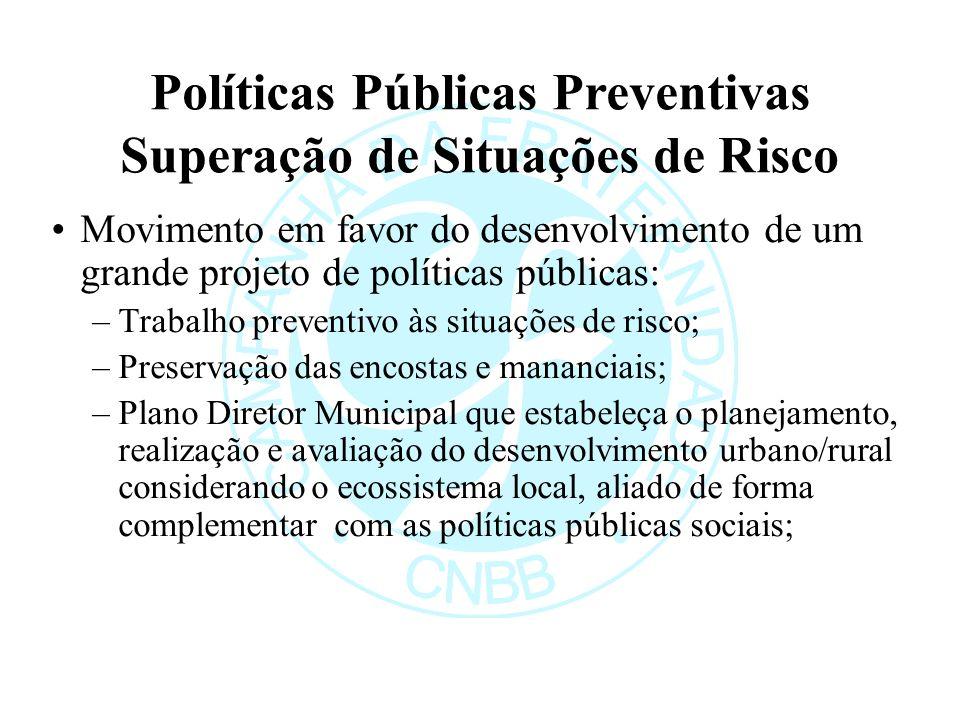 Políticas Públicas Preventivas Superação de Situações de Risco