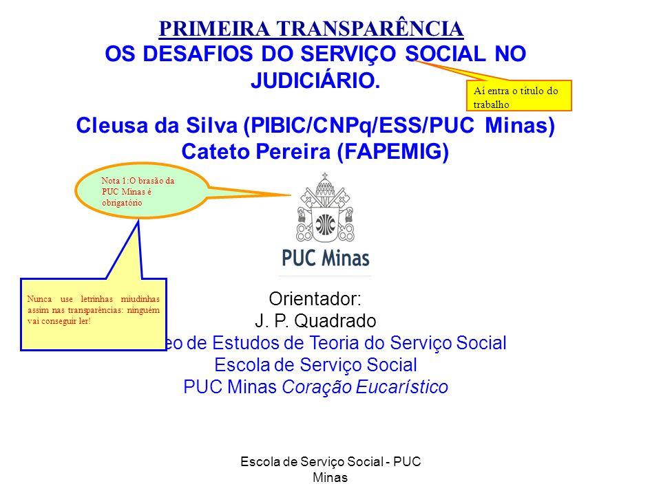 PRIMEIRA TRANSPARÊNCIA OS DESAFIOS DO SERVIÇO SOCIAL NO JUDICIÁRIO.
