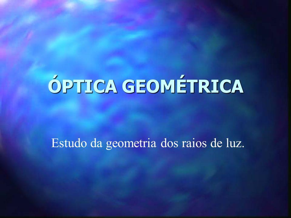 Estudo da geometria dos raios de luz.