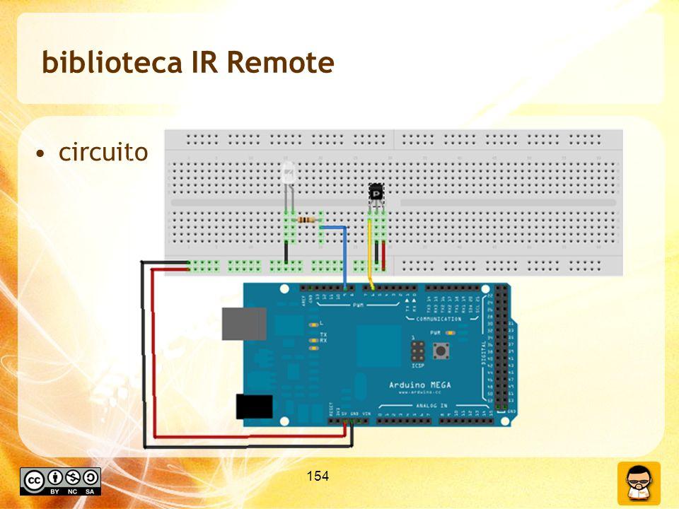 biblioteca IR Remote circuito 154 154