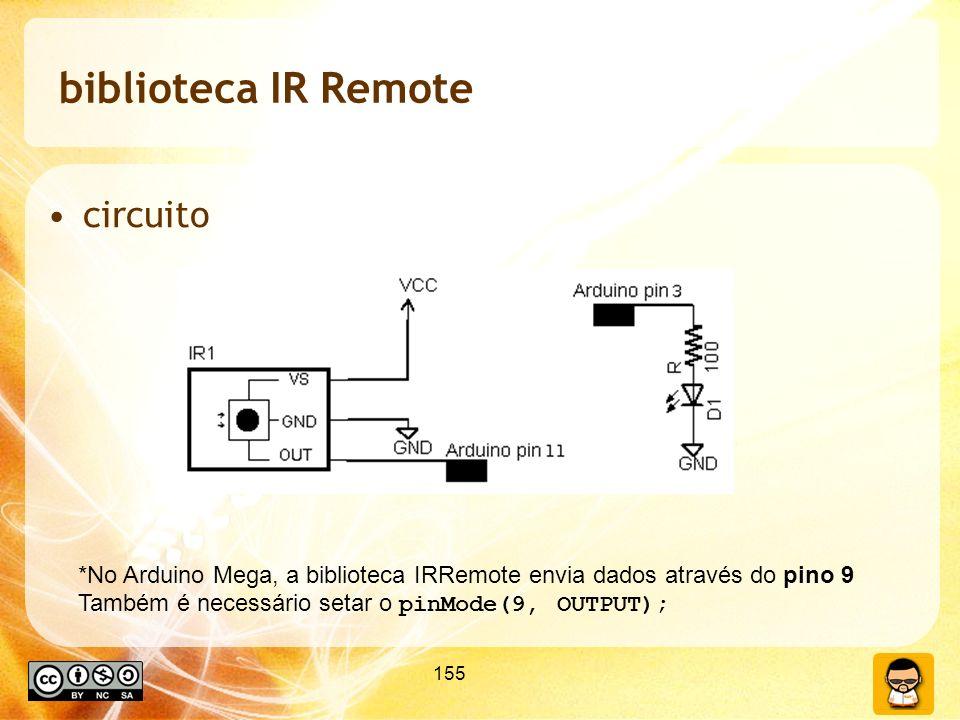 biblioteca IR Remote circuito