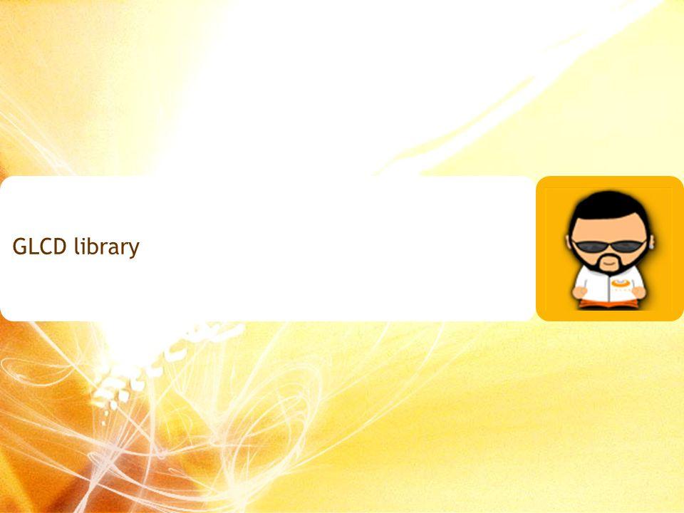 GLCD library 163