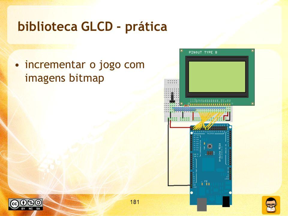 biblioteca GLCD - prática