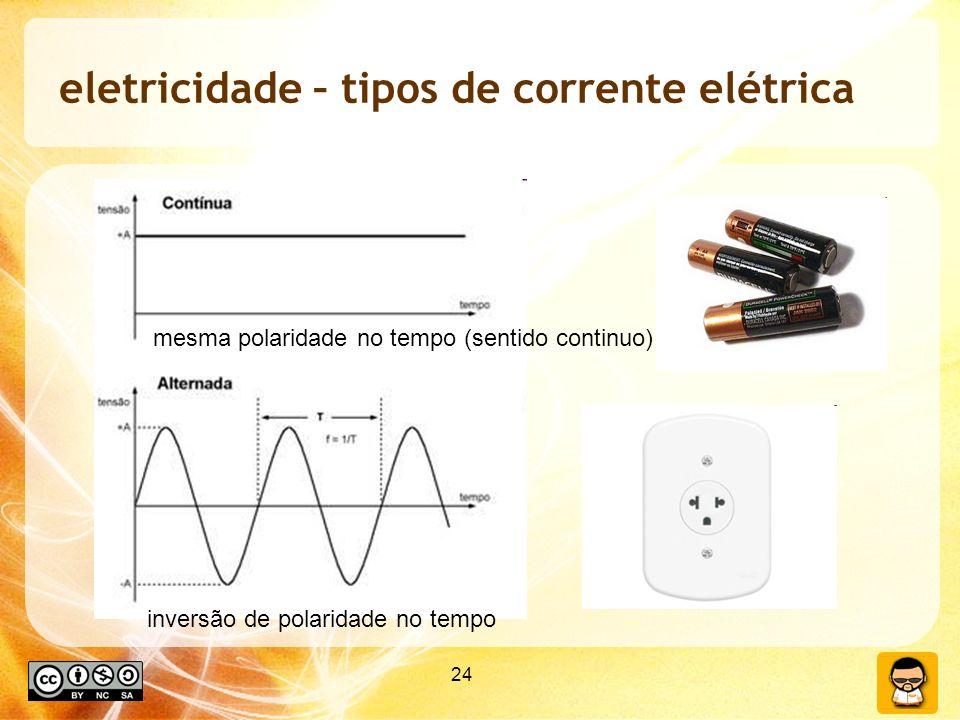 eletricidade – tipos de corrente elétrica