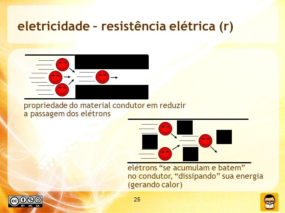 eletricidade – resistência elétrica (r)