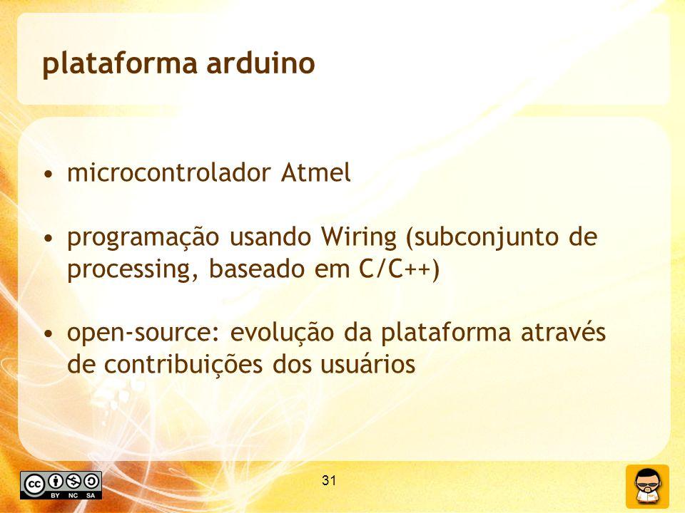 plataforma arduino microcontrolador Atmel