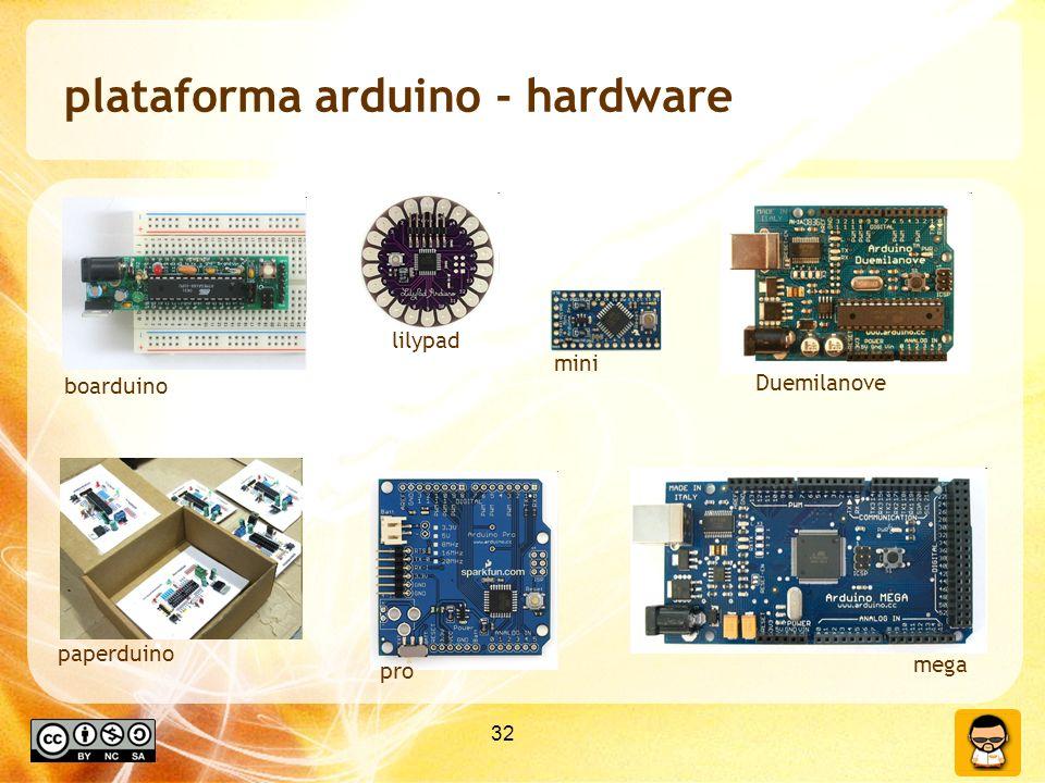 plataforma arduino - hardware