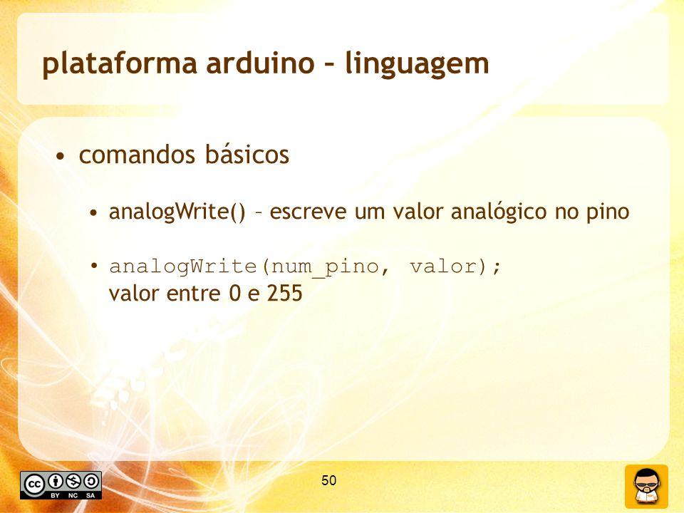 plataforma arduino – linguagem