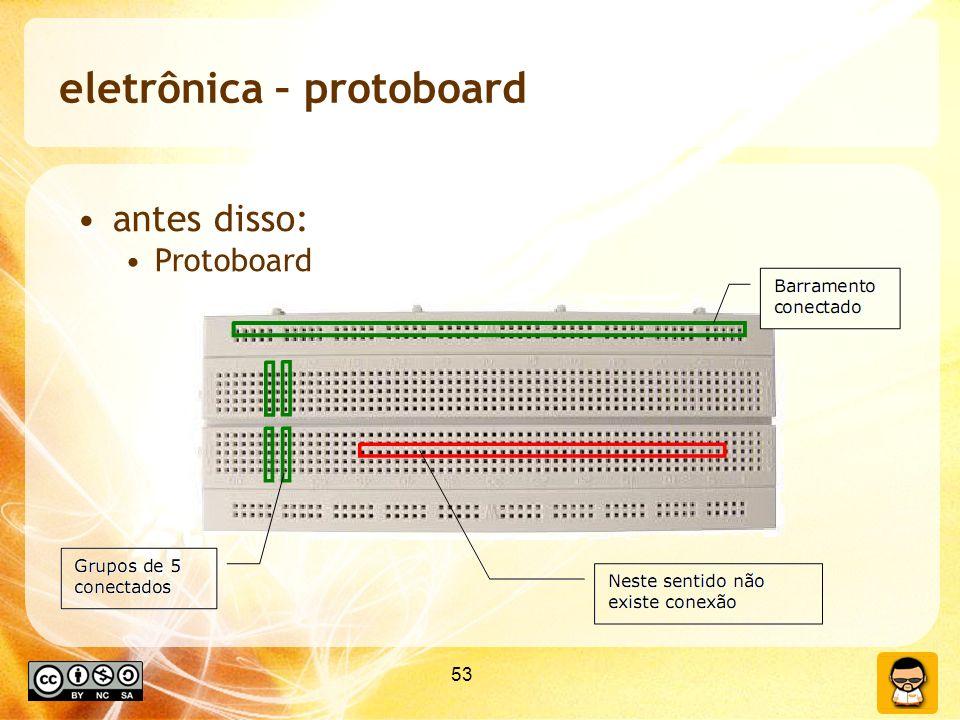 eletrônica – protoboard