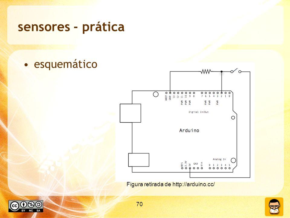 sensores - prática esquemático Figura retirada de http://arduino.cc/
