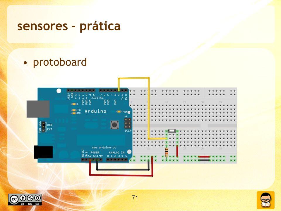 sensores - prática protoboard