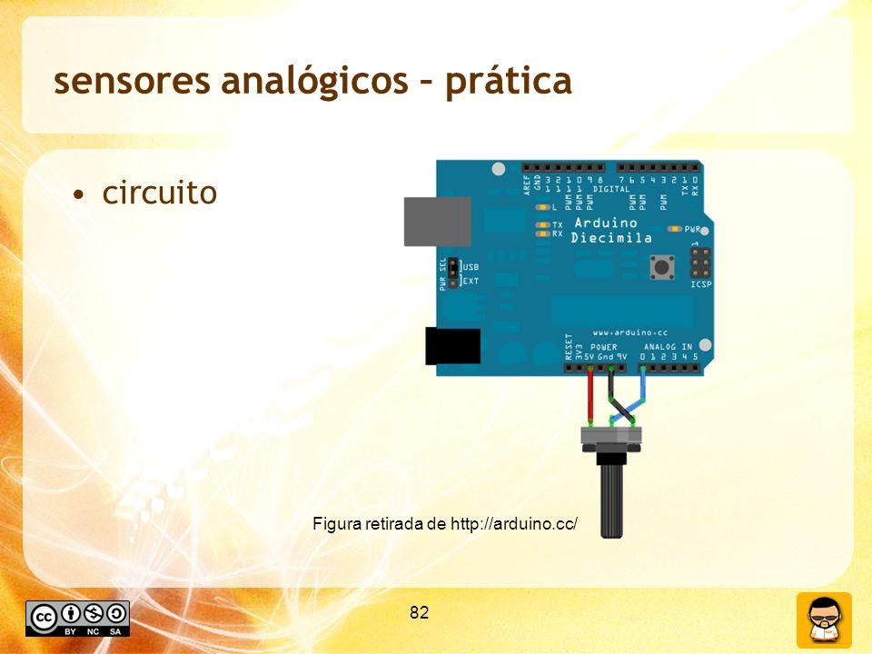 sensores analógicos – prática