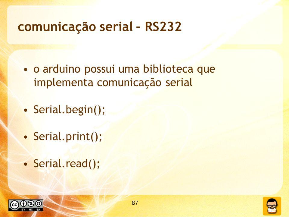 comunicação serial – RS232