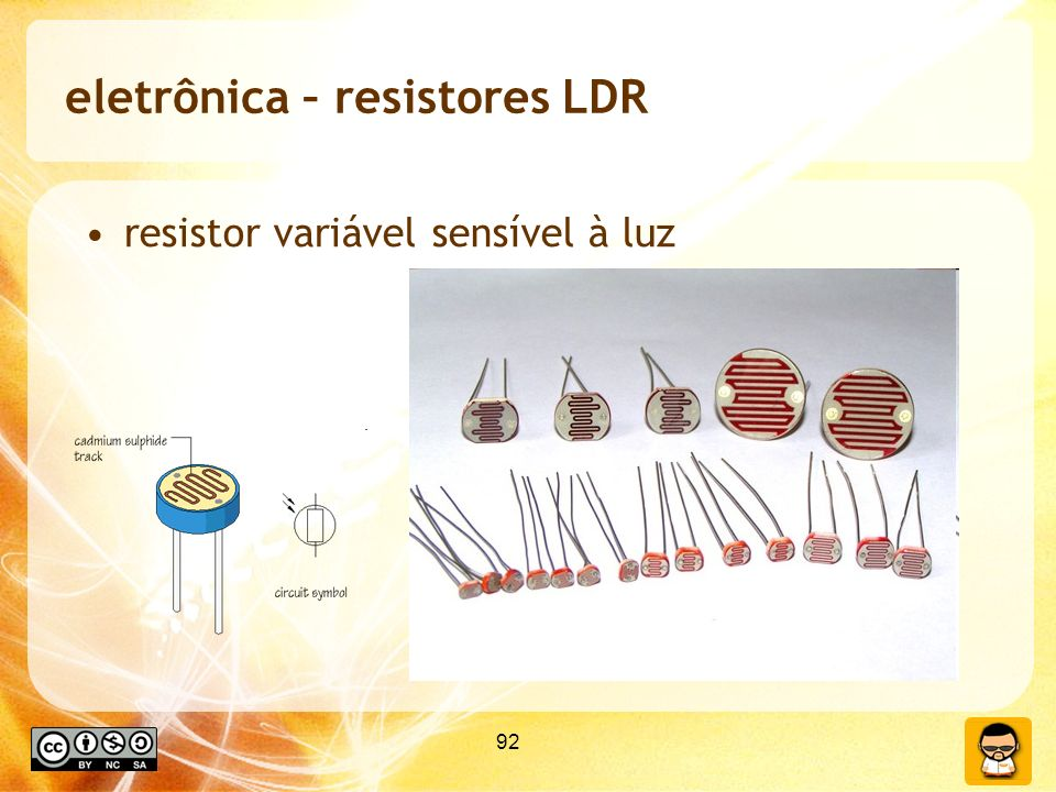 eletrônica – resistores LDR